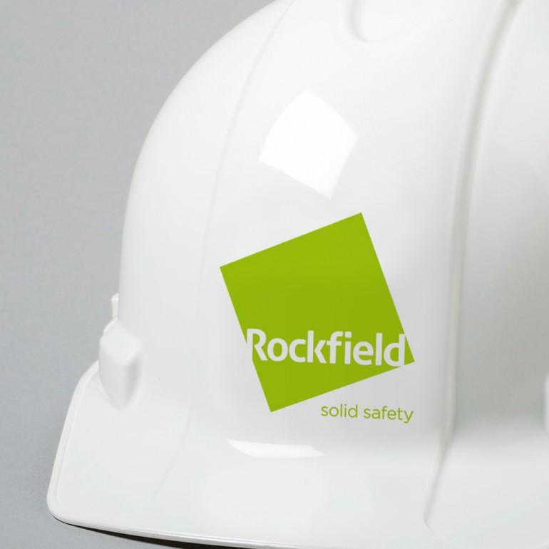 Rockfield Identity on hard hat