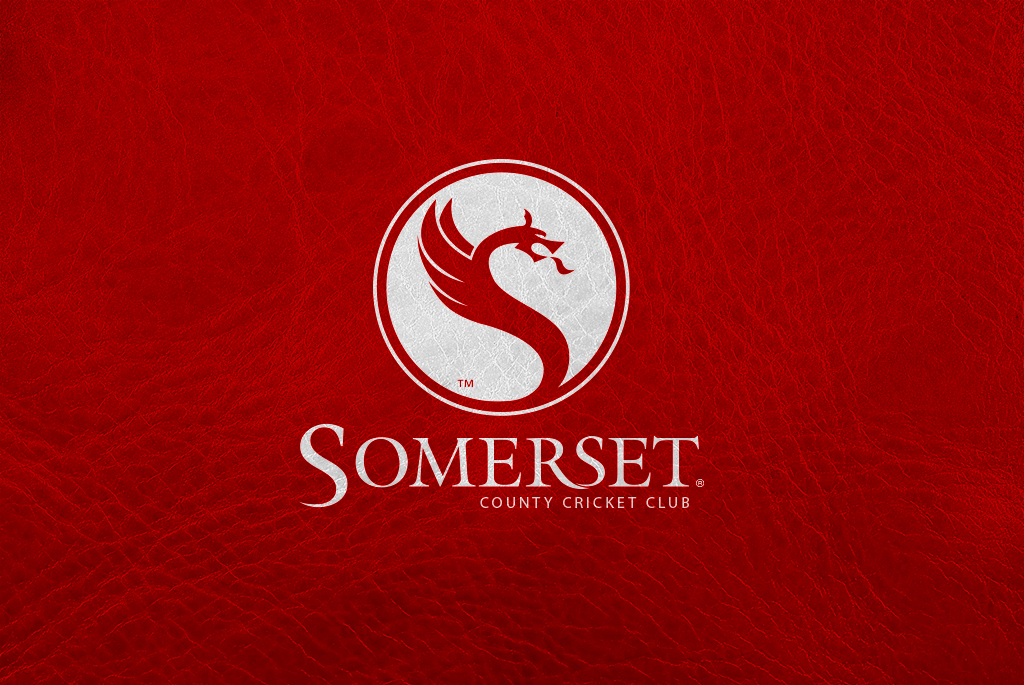 Somerset CCC on leather Logo