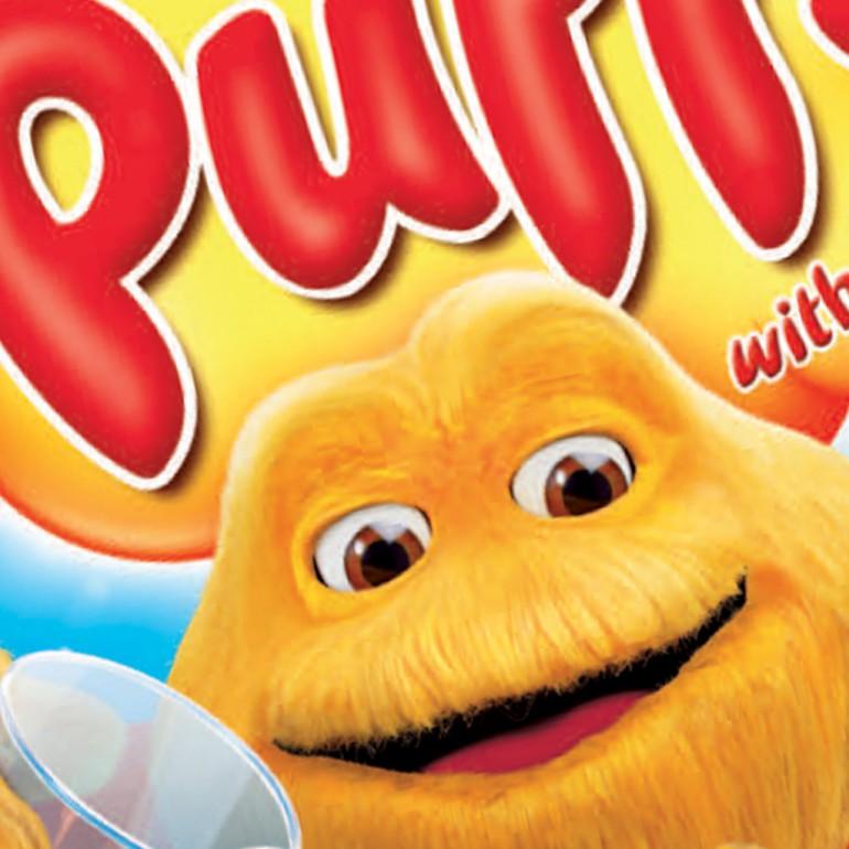 Original sugar puffs packaging